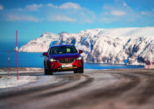 Mazda Arctic Drive. Sweden, Finland, Norway.  7th - 9th March 2016. Photo: Drew Gibson.